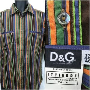 Dolce & Gabbana Multi Color Striped Shirt